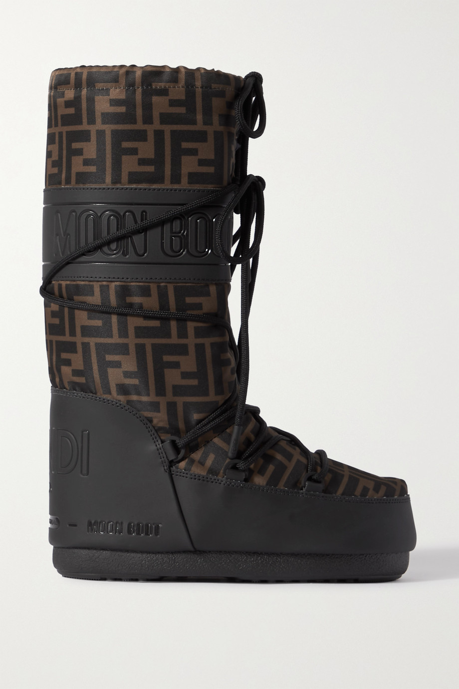 Fendi Printed shell and rubber snow boots