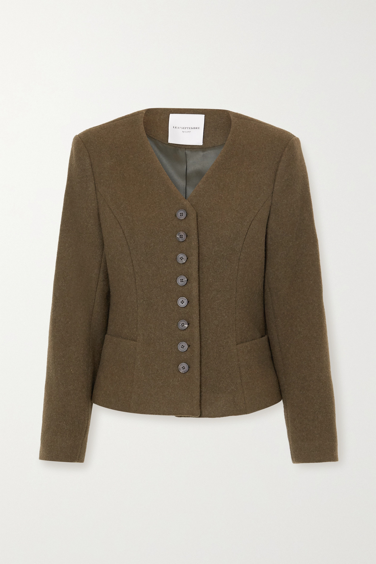 LE 17 SEPTEMBRE - 羊毛混纺外套 - 绿色 - FR38