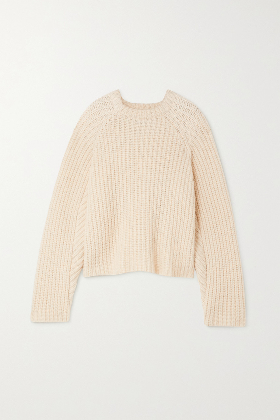 ENVELOPE1976 + NET SUSTAIN Seoul ribbed alpaca, cotton and merino wool-blend sweater