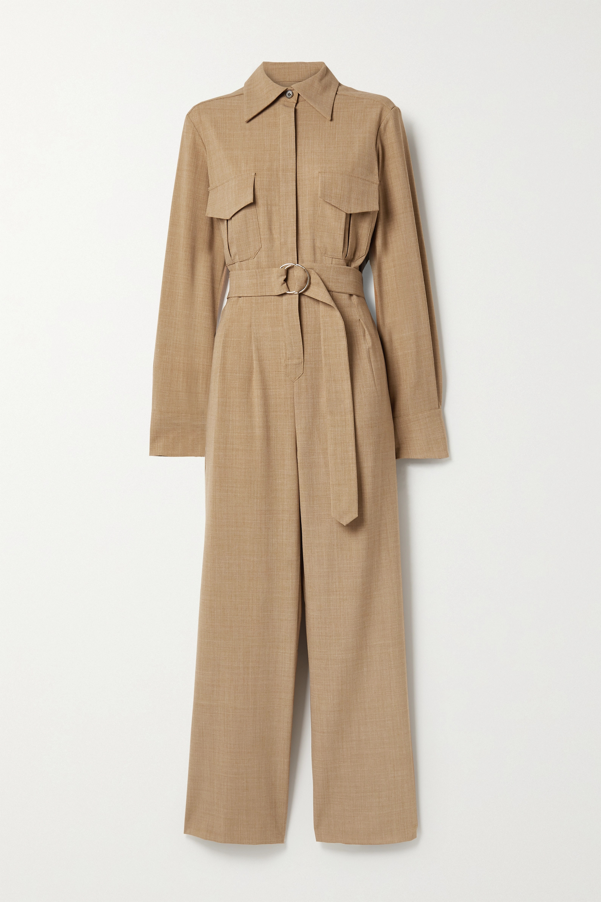ANNA QUAN Coda belted woven jumpsuit
