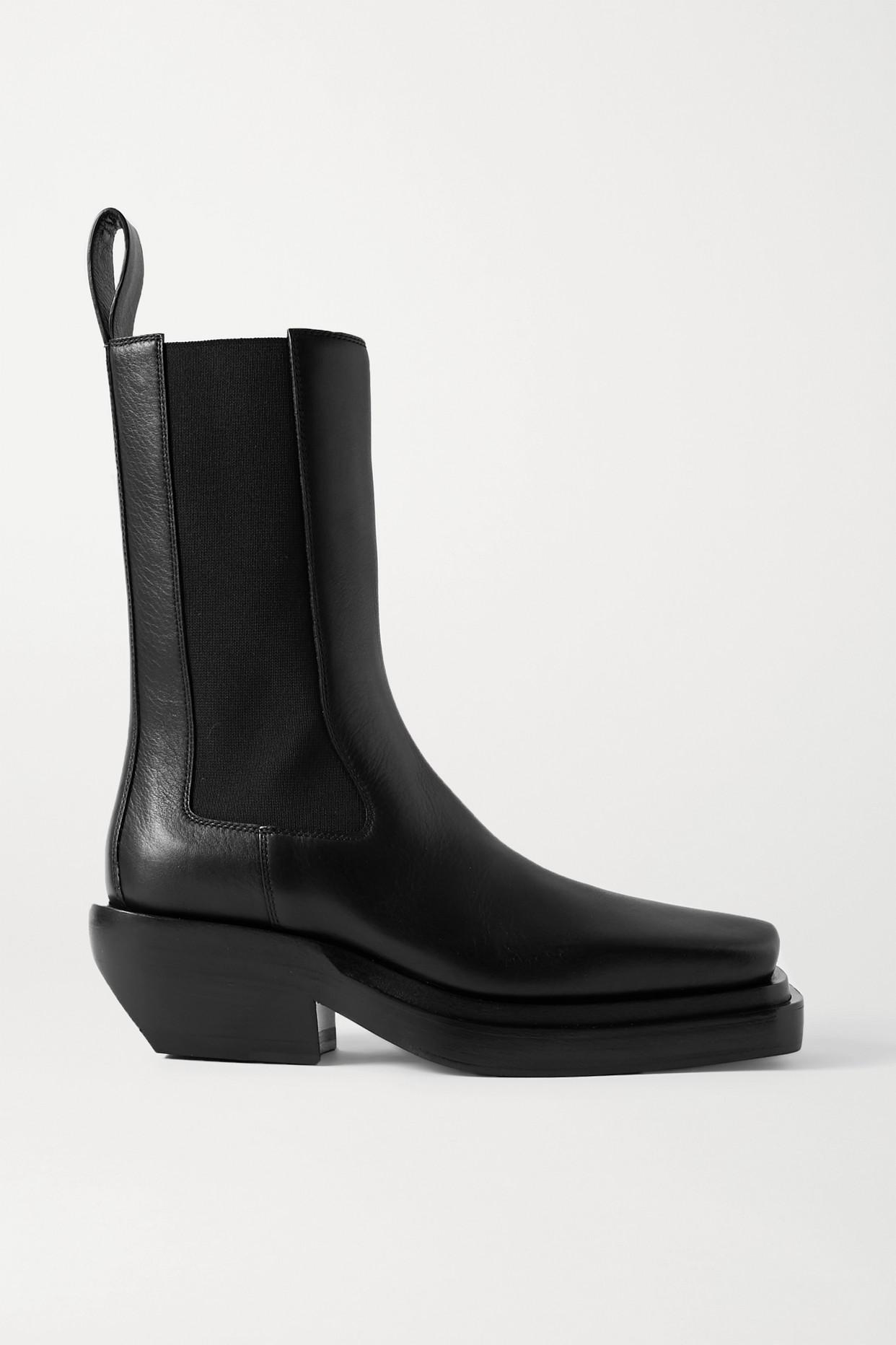 BOTTEGA VENETA - Leather Ankle Boots - Black - IT37