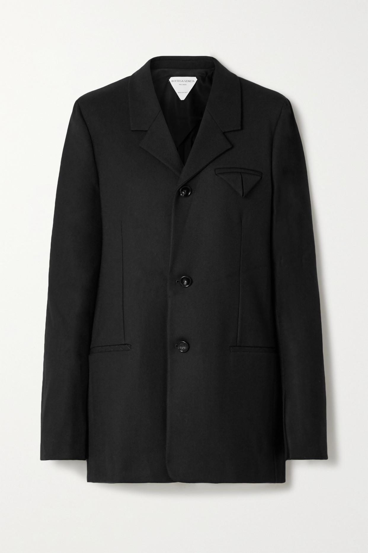 BOTTEGA VENETA - 斜纹布西装外套 - 黑色 - IT42