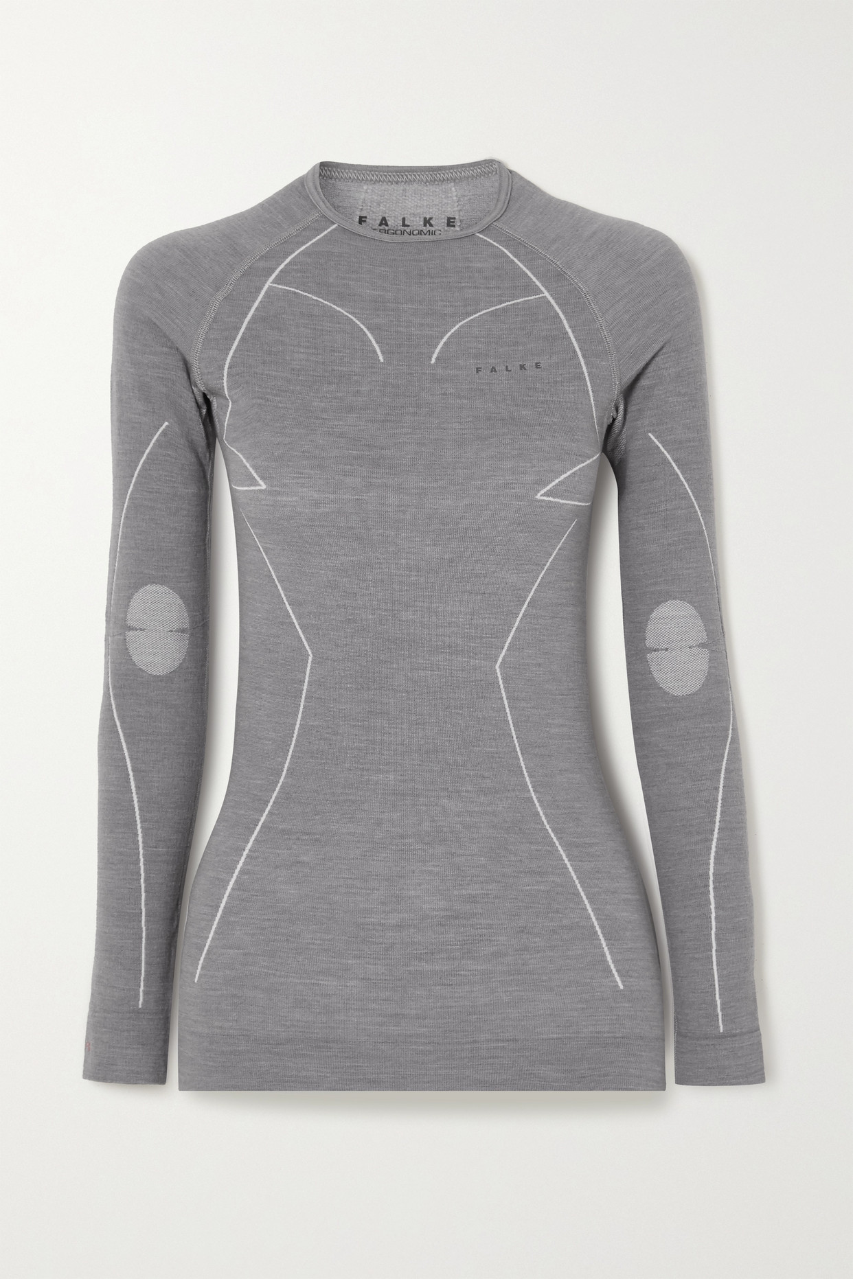 FALKE ERGONOMIC SPORT SYSTEM - 羊毛混纺上衣 - 灰色 - x large