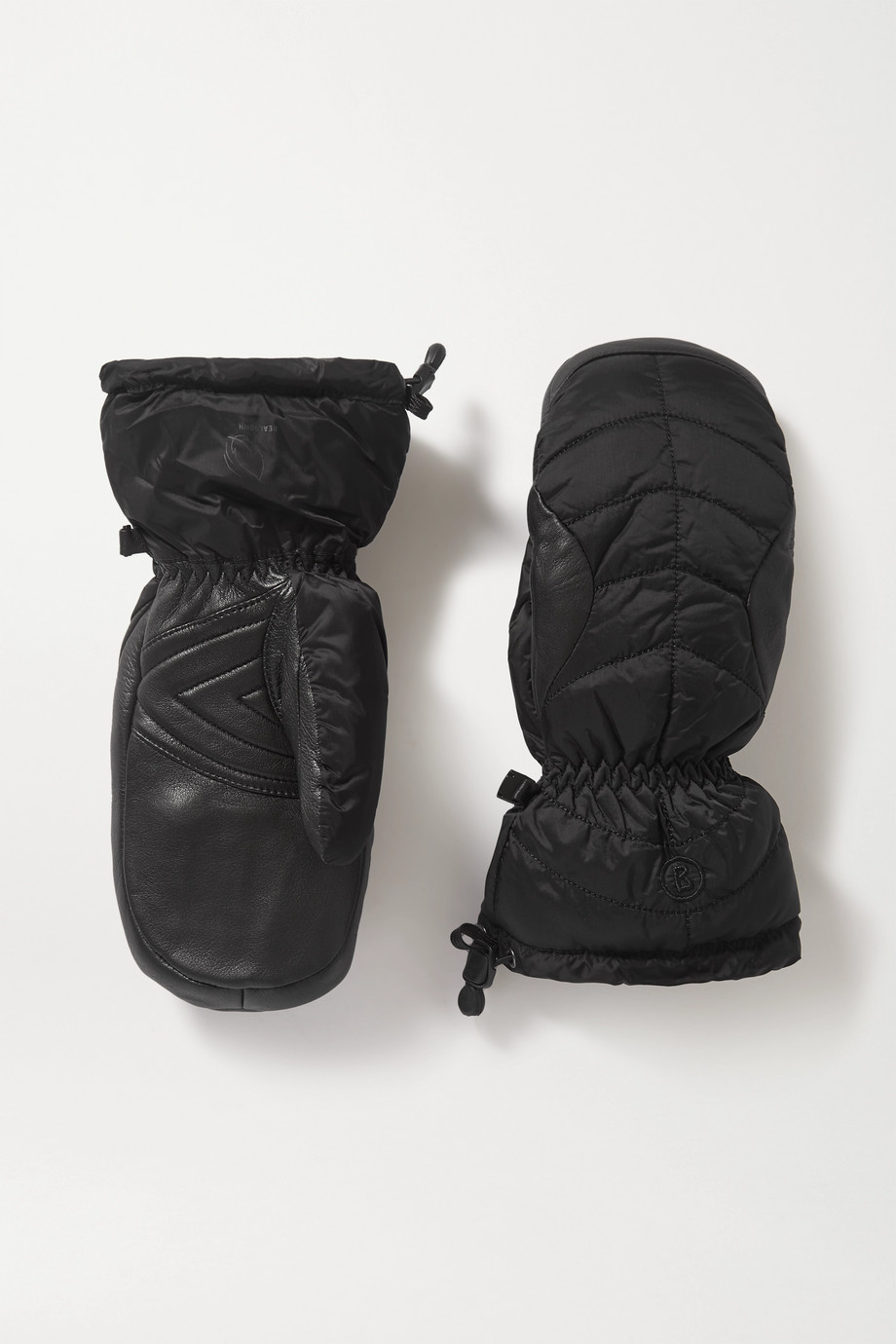 BOGNER Selia padded leather and shell ski mittens
