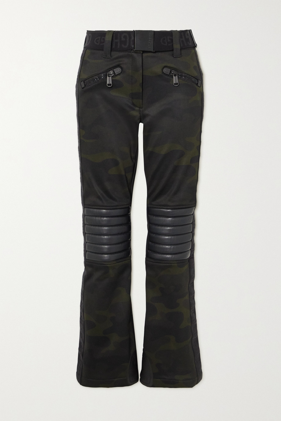 GOLDBERGH Battle belted camouflage-print bootcut ski pants