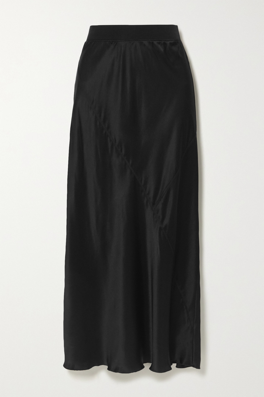 ATM ANTHONY THOMAS MELILLO Paneled silk-satin midi skirt