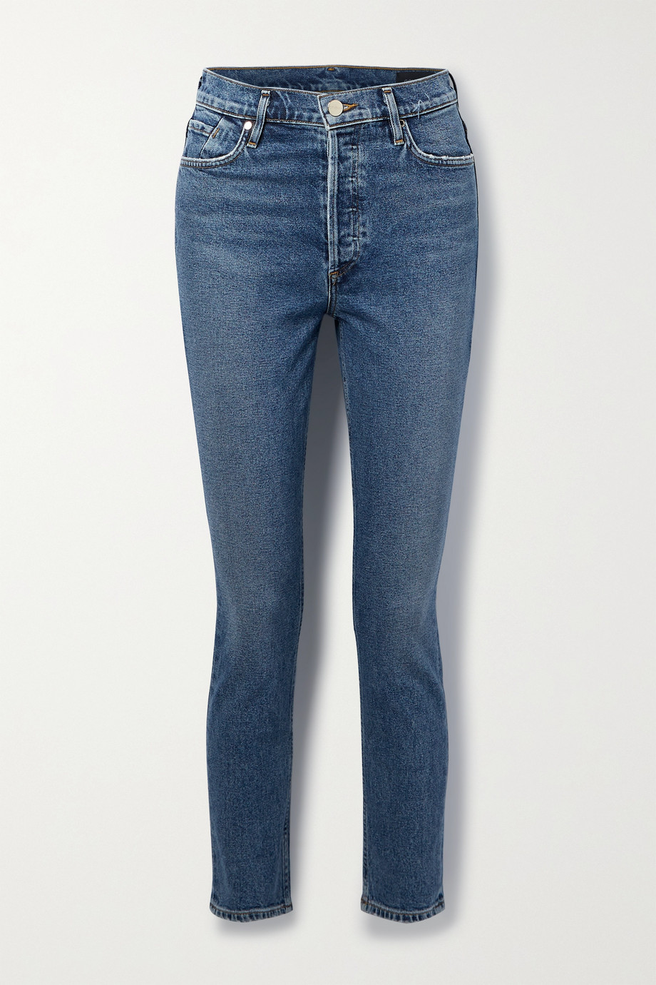 GOLDSIGN High-rise slim-leg jeans