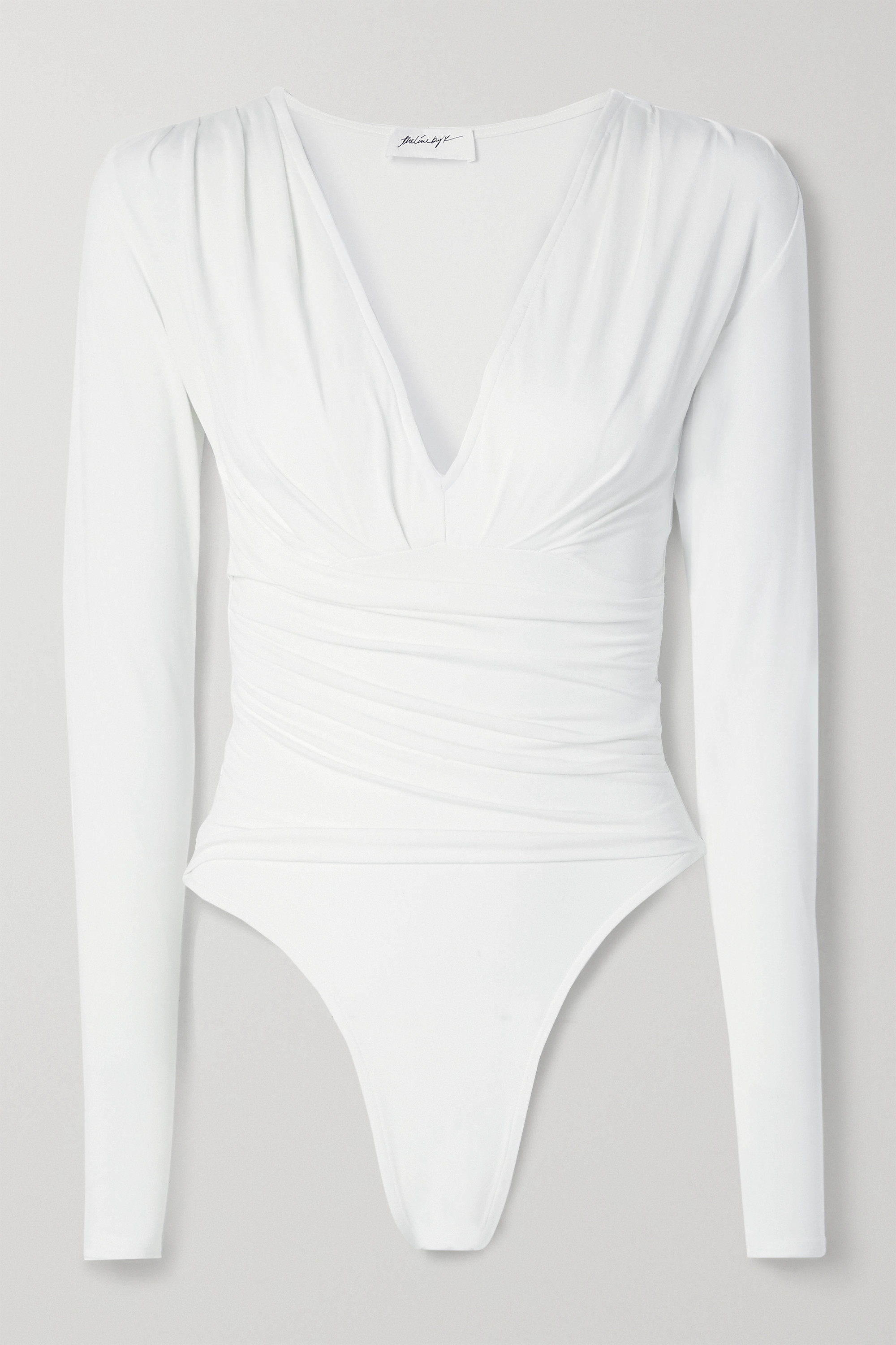 THE LINE BY K Isla ruched stretch-Micro Modal bodysuit