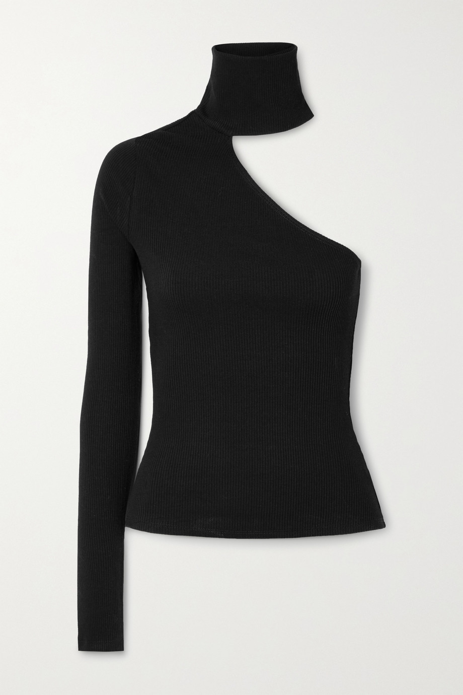 THE RANGE Mass cutout ribbed TENCEL Lyocell-blend turtleneck top