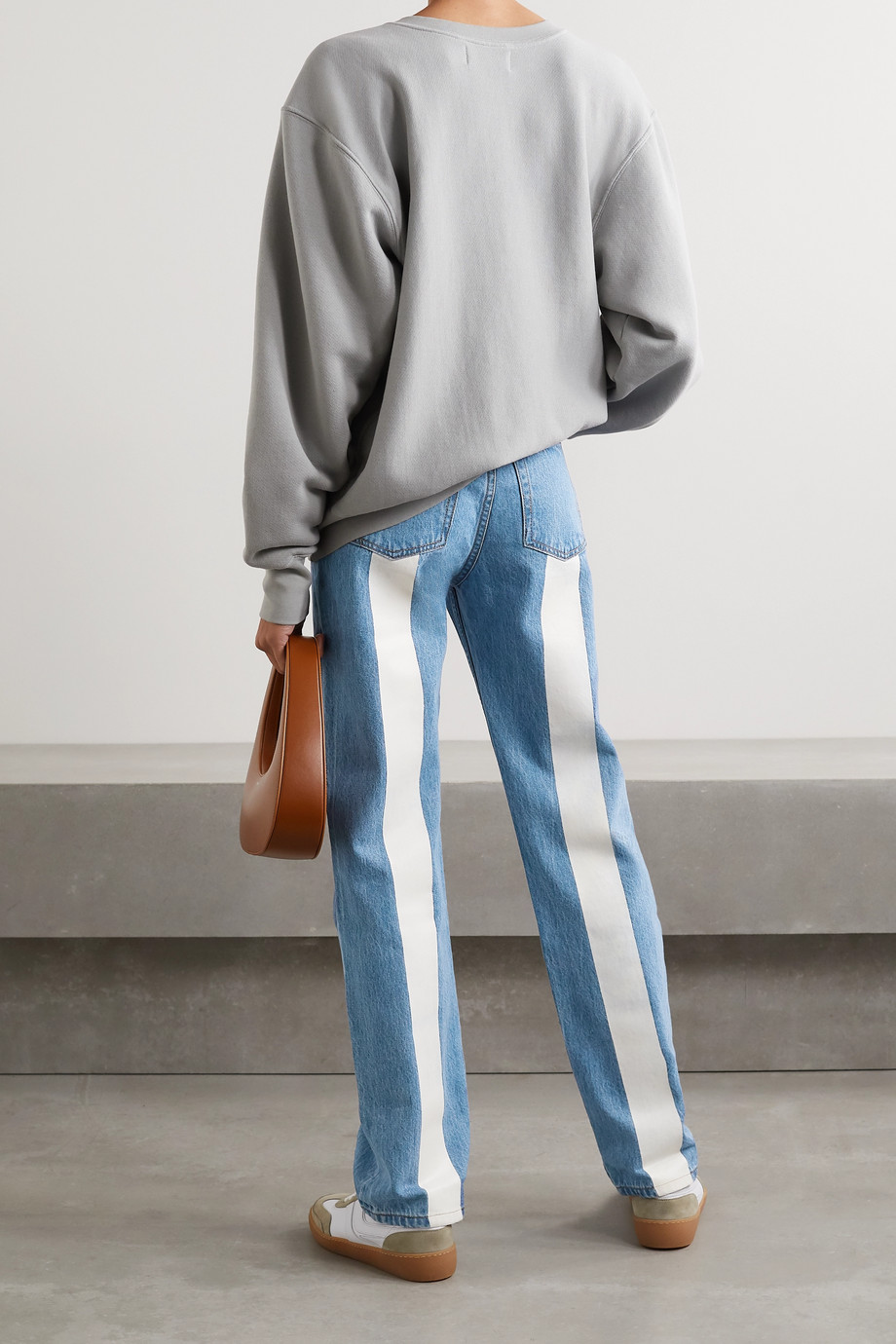 Still Here Childhood printed high-rise straight-leg jeans