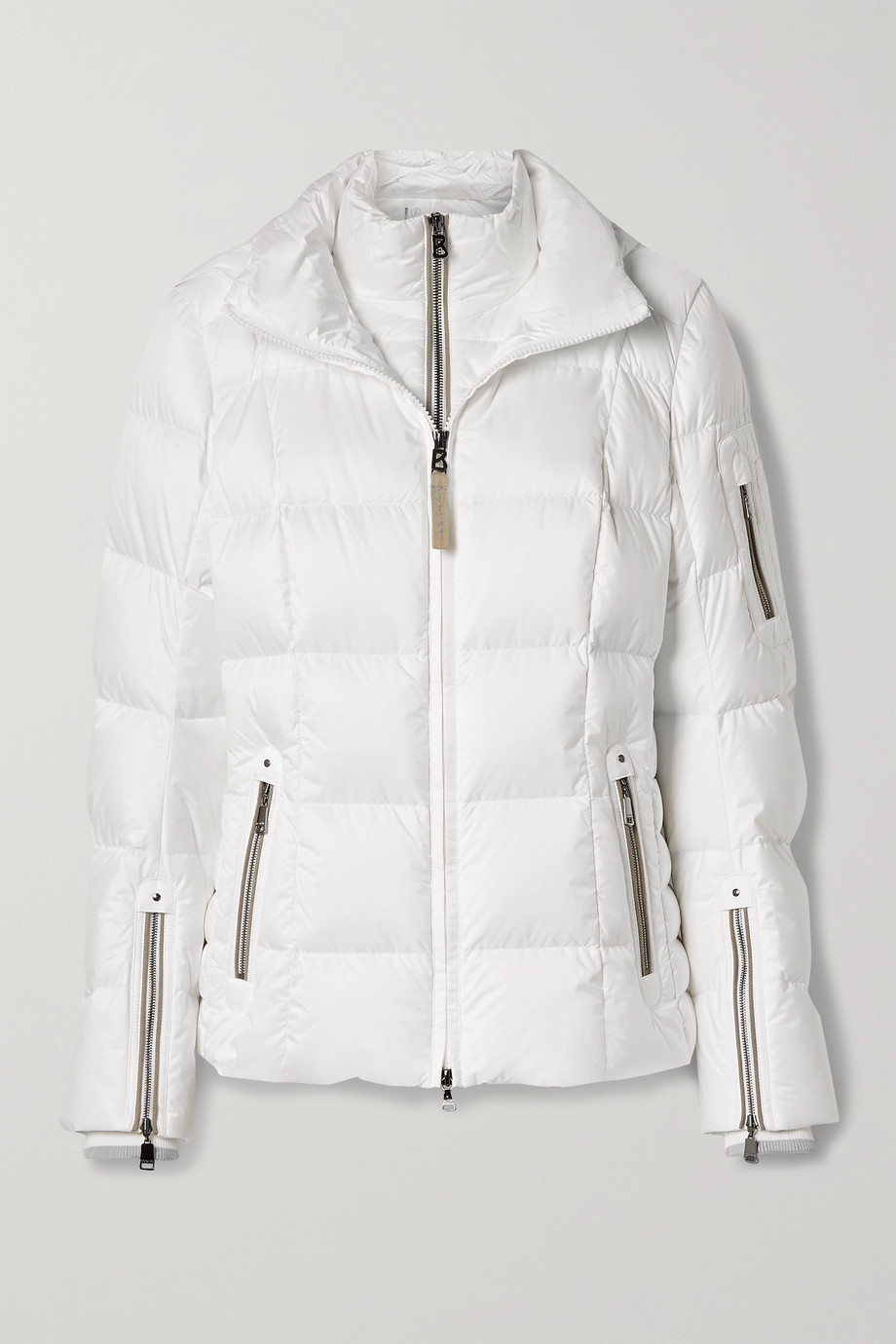 BOGNER Coro-D hooded layered quilted down ski jacket