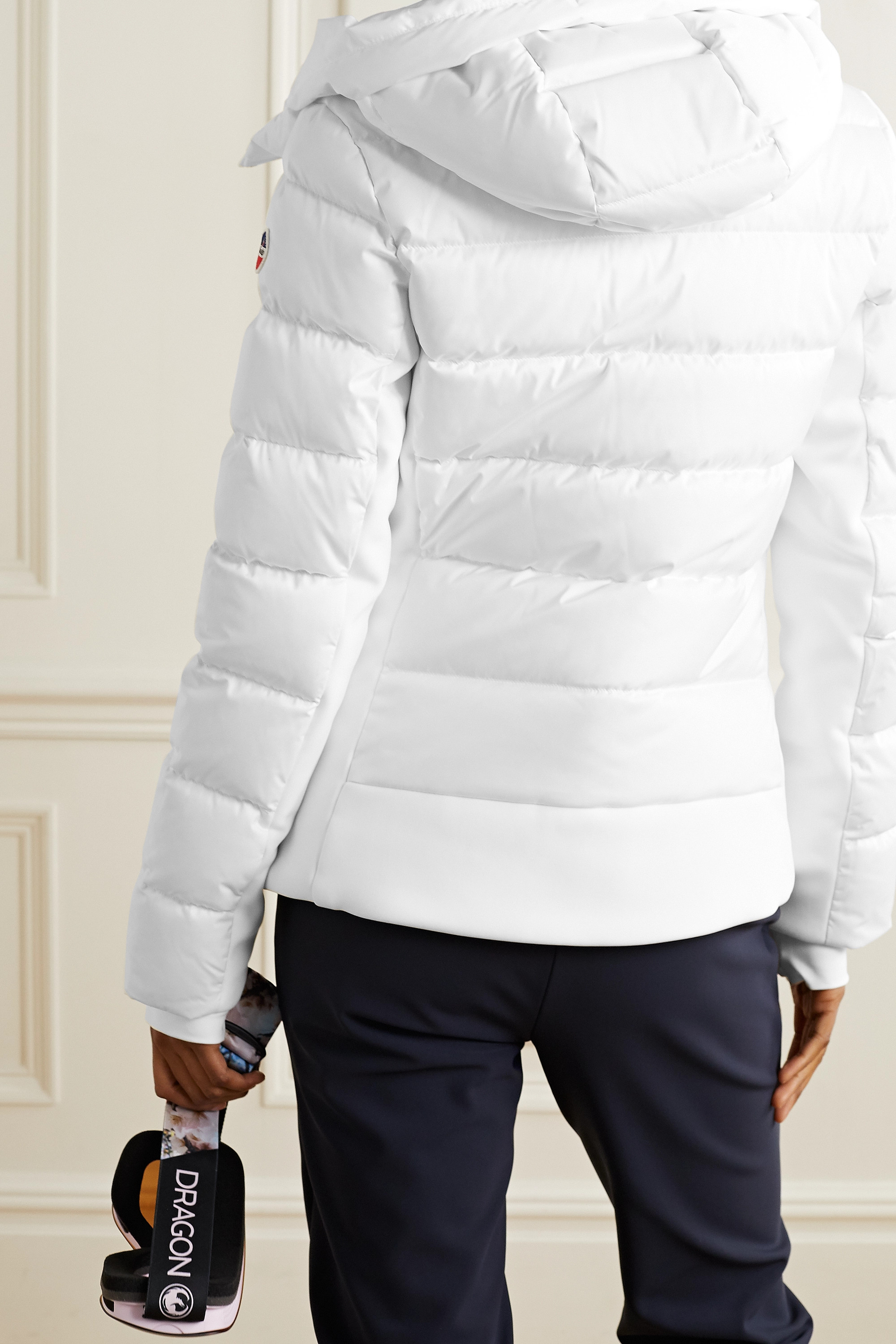 FUSALP Roxane hooded quilted down ski jacket
