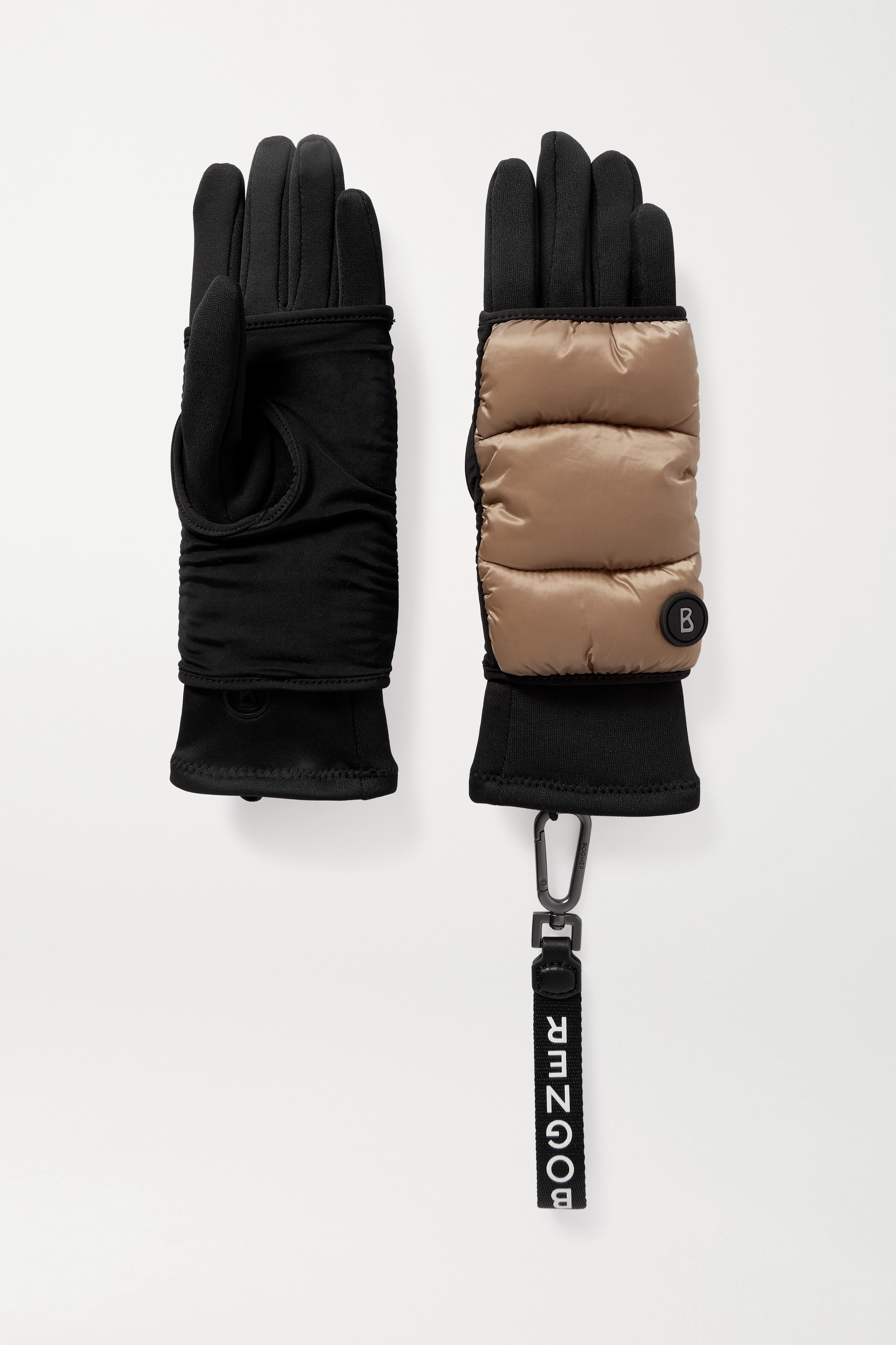 BOGNER Touch quilted shell and stretch-jersey gloves