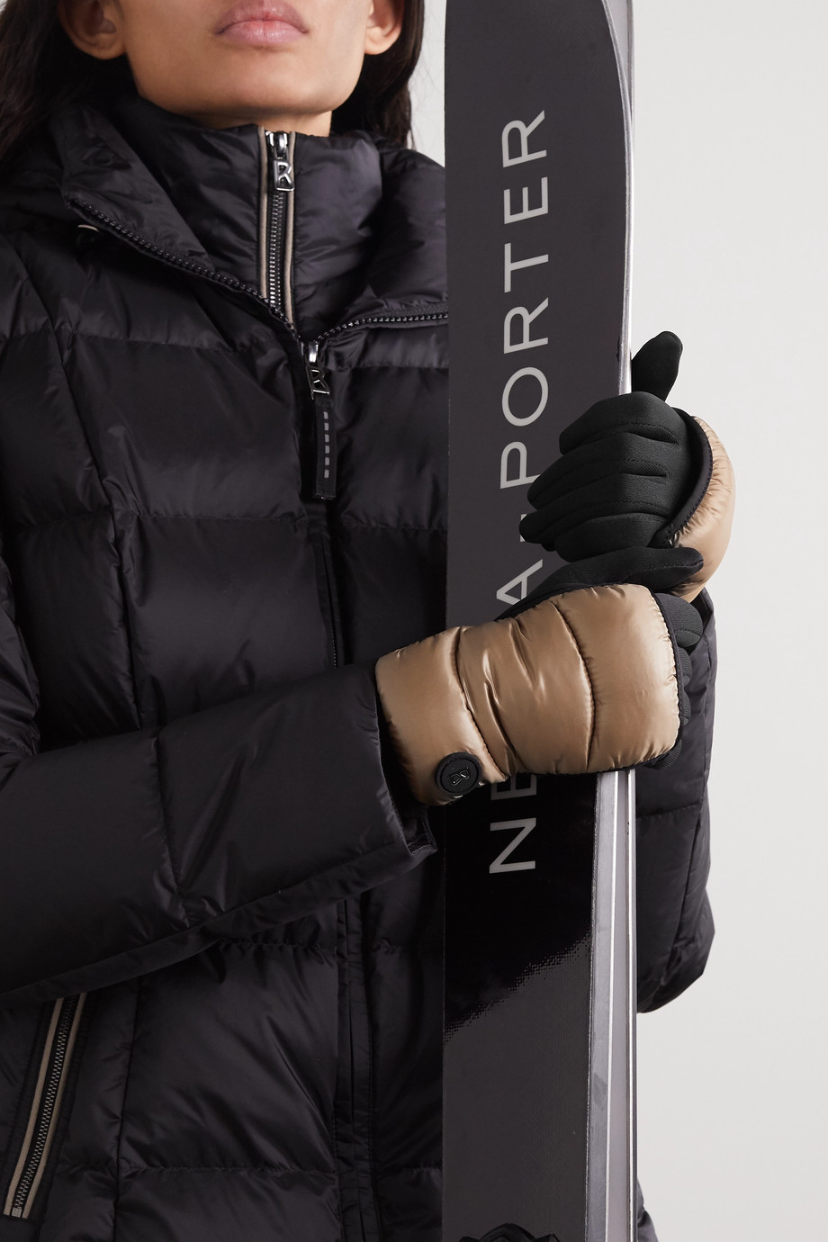 BOGNER Touch quilted shell and stretch-jersey ski gloves