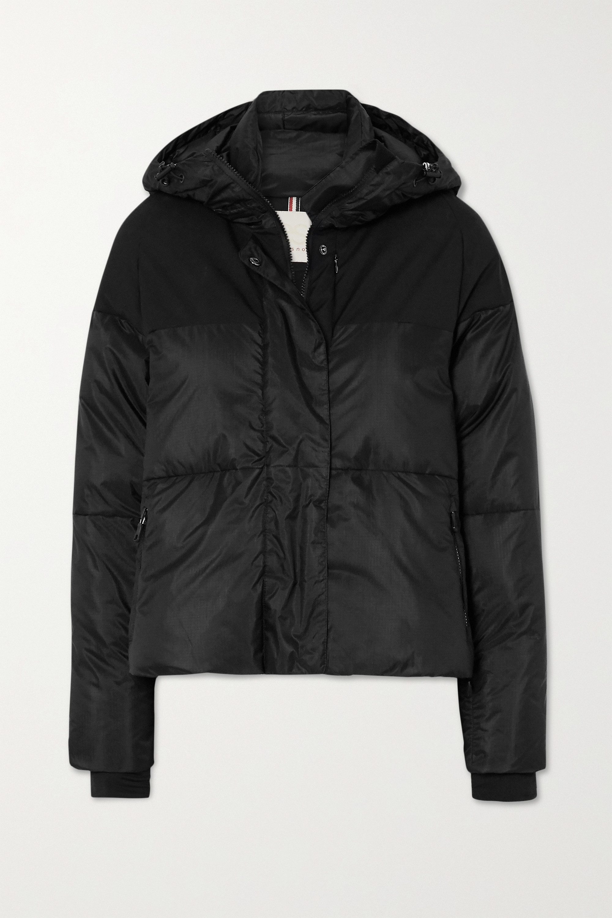 ERIN SNOW Lolita Aluminium hooded quilted ski jacket
