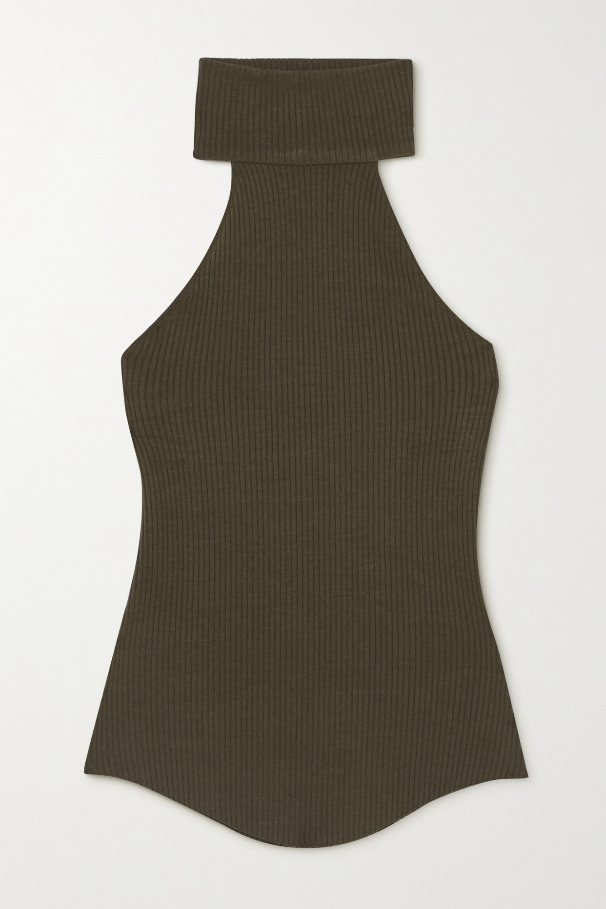 THE RANGE - Alloy Ribbed Stretch-knit Turtleneck Top - Green - x small