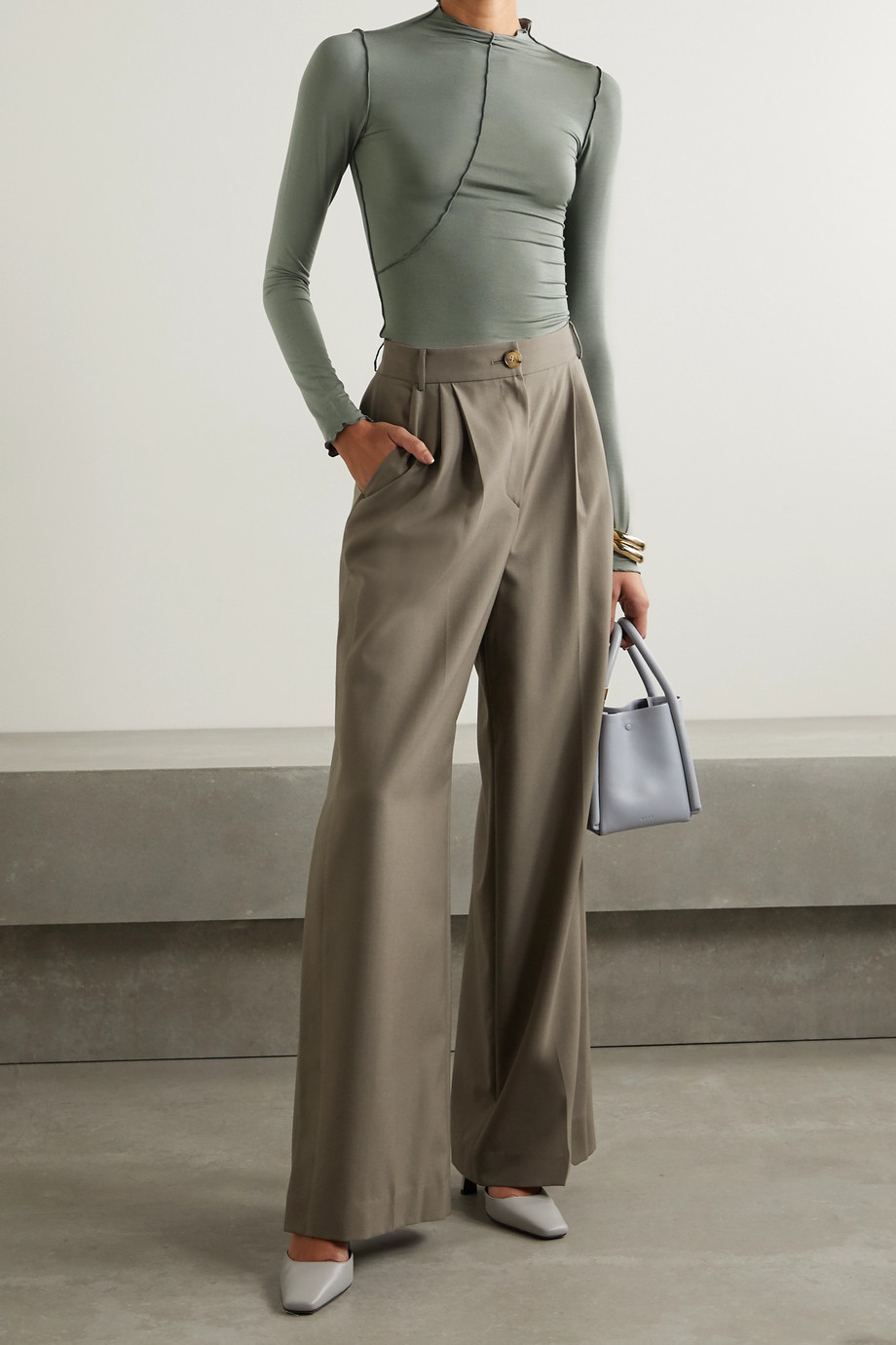 THE LINE BY K Zane stretch-Micro Modal turtleneck top