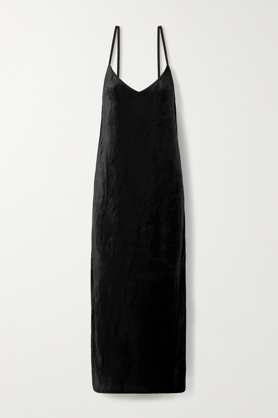 NINETY PERCENT + NET SUSTAIN Micro Modal-blend velour maxi dress