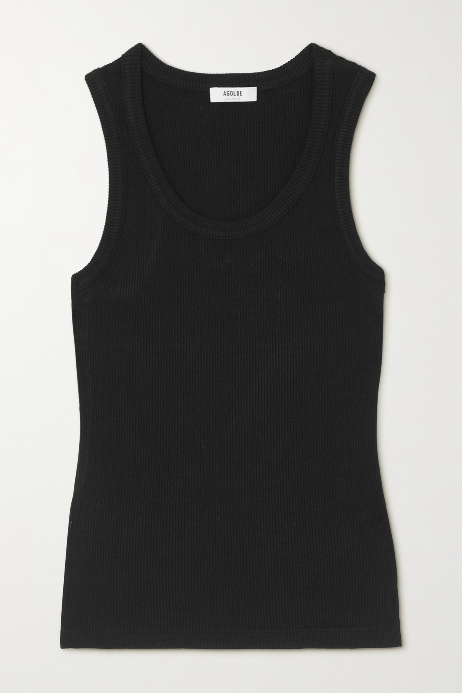 AGOLDE Poppy ribbed organic cotton and Tencel-blend jersey tank