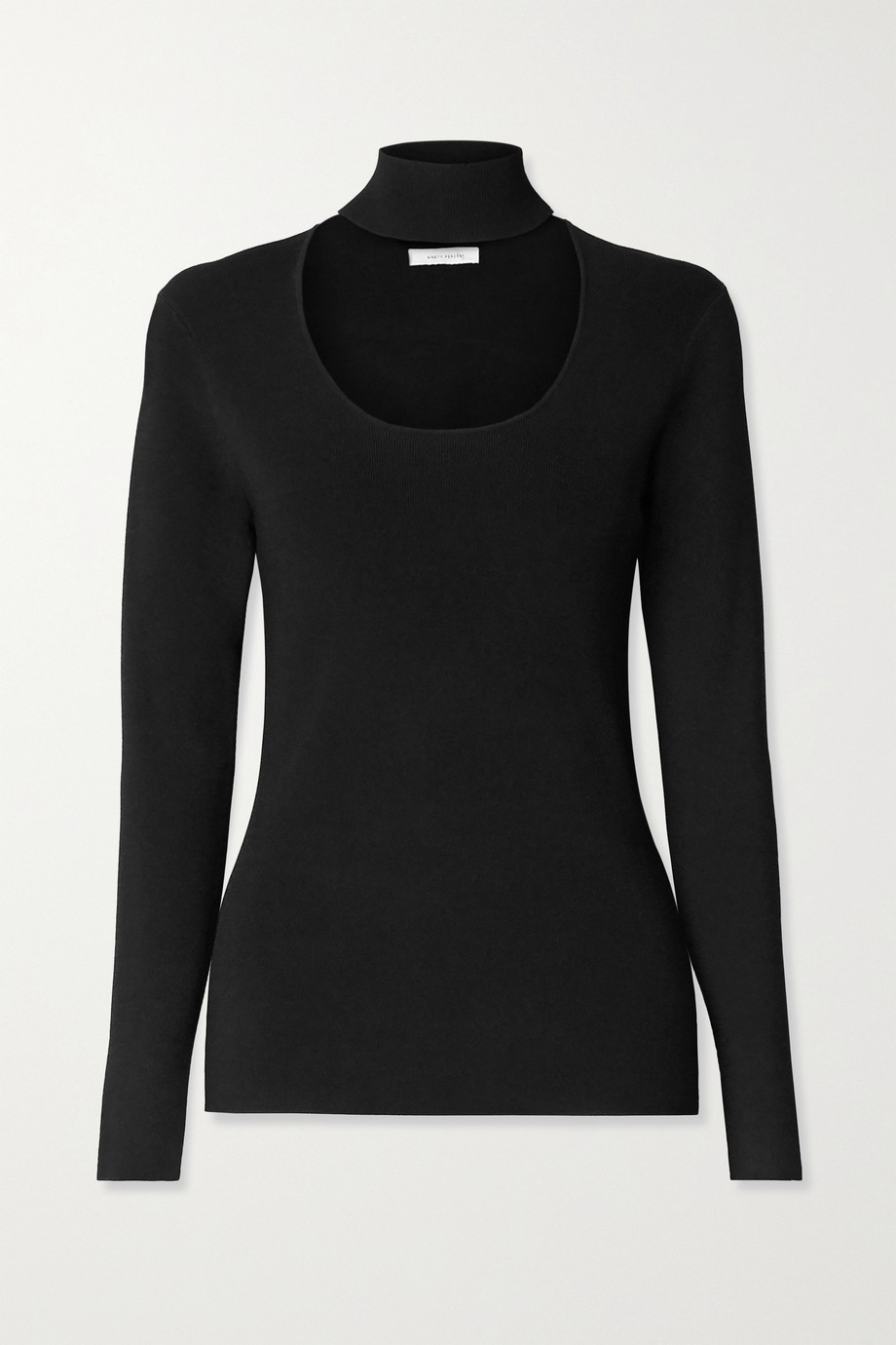 NINETY PERCENT + NET SUSTAIN cutout stretch-knit turtleneck sweater