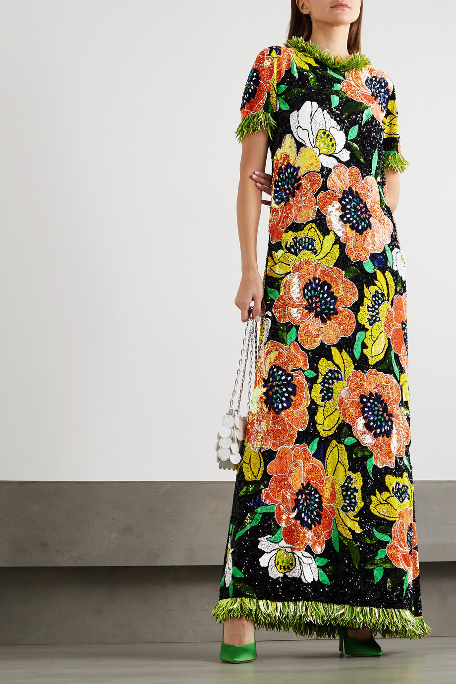 ASHISH Fringed sequined chiffon gown