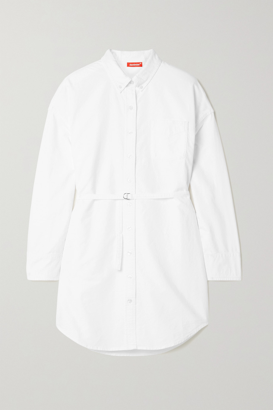 DENIMIST Belted cotton-canvas shirt dress