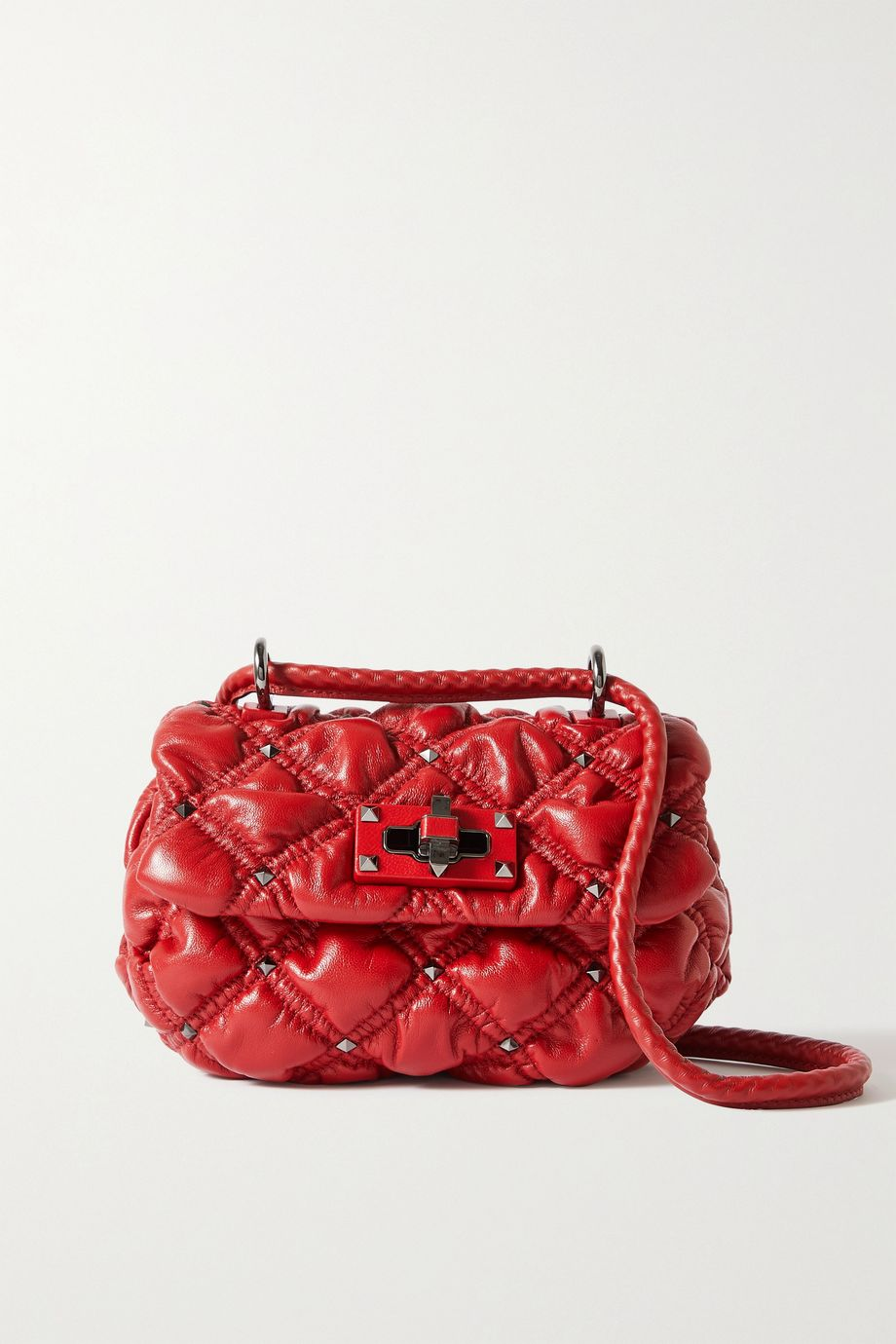 VALENTINO Valentino Garavani Waffle small studded quilted leather shoulder bag