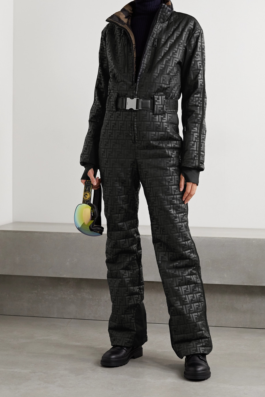 FENDI Printed padded ski suit