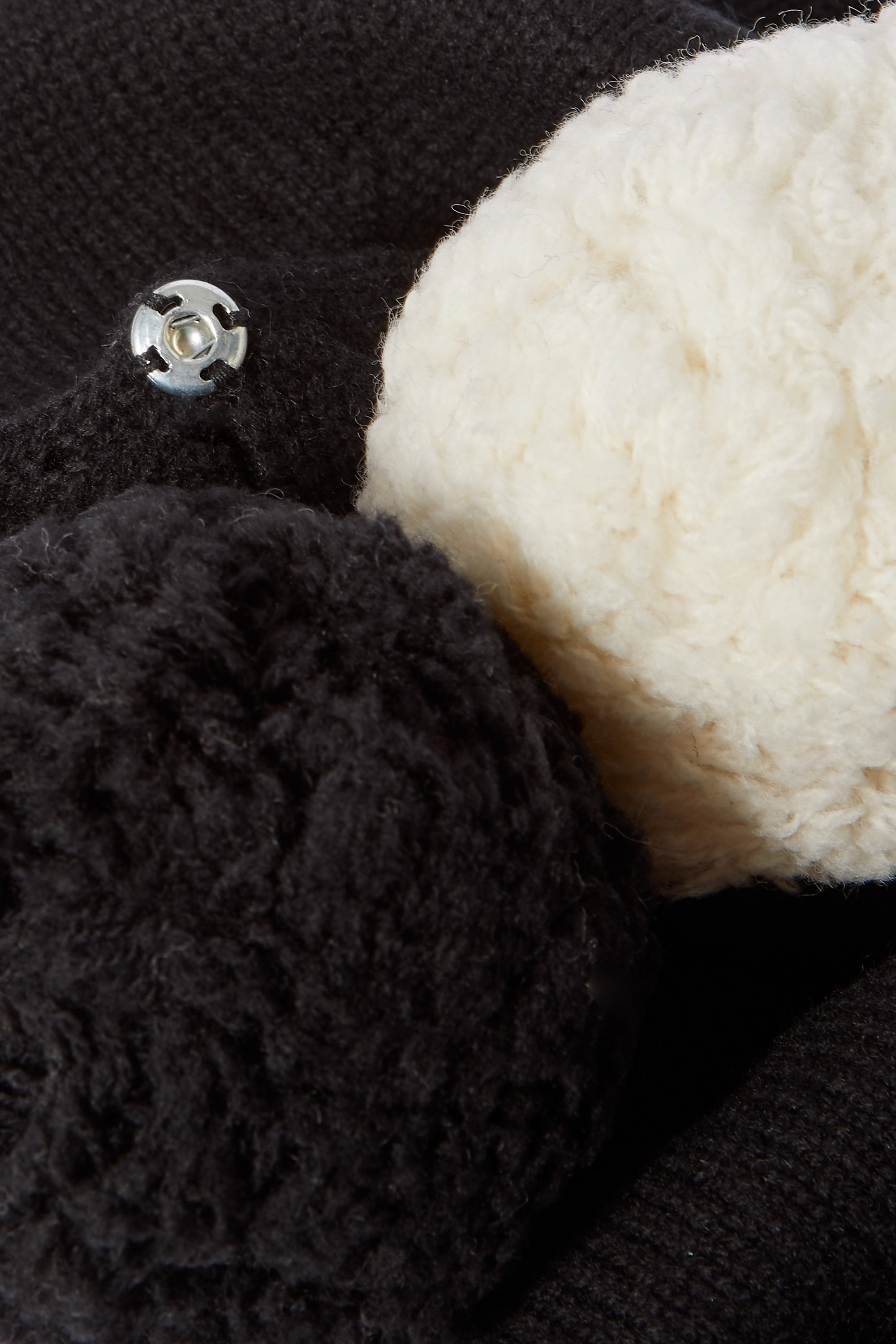 YVES SALOMON Pompom-embellished wool and cashmere-blend beanie