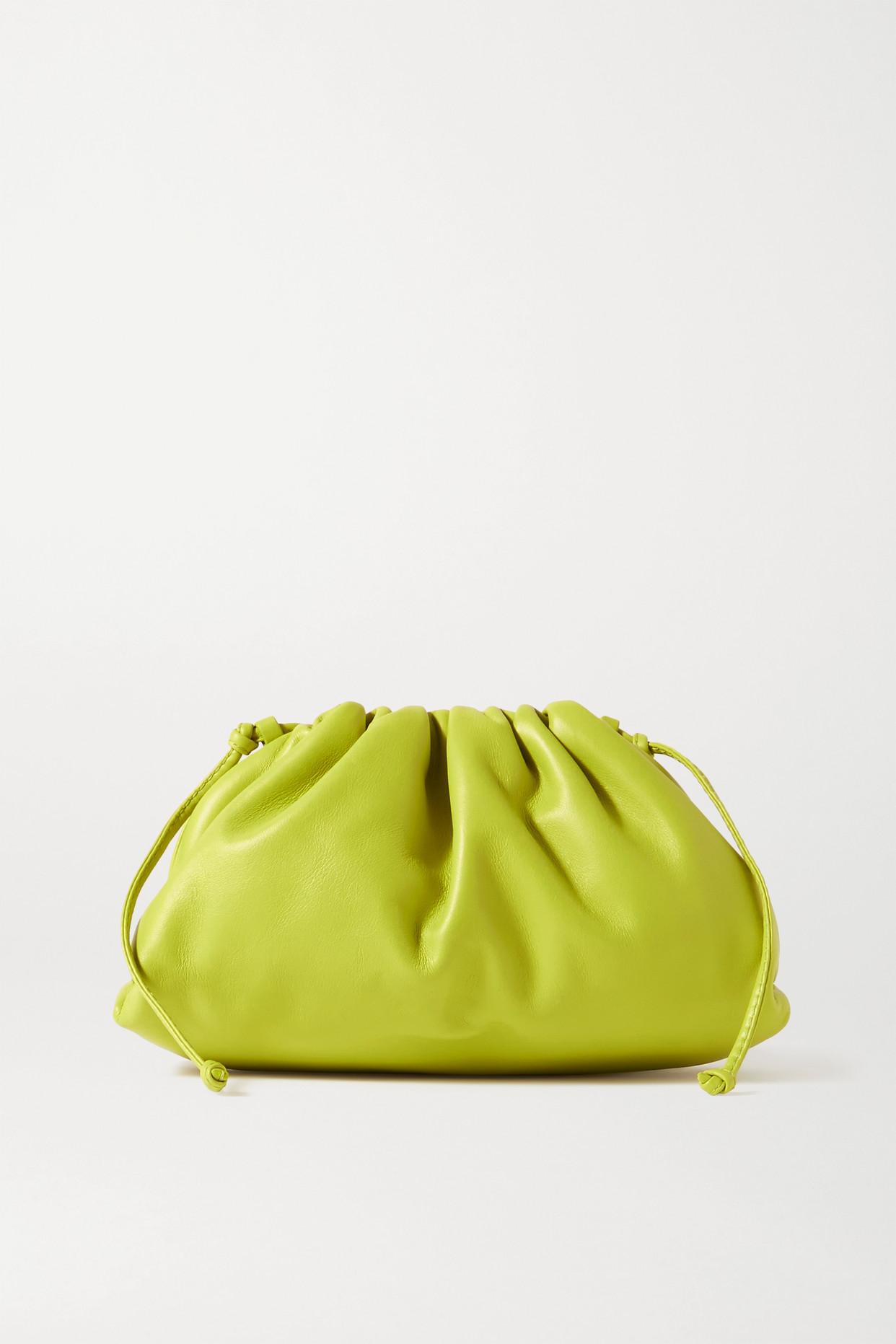 BOTTEGA VENETA - The Pouch 缩褶皮革小号手拿包 - 绿色 - one size