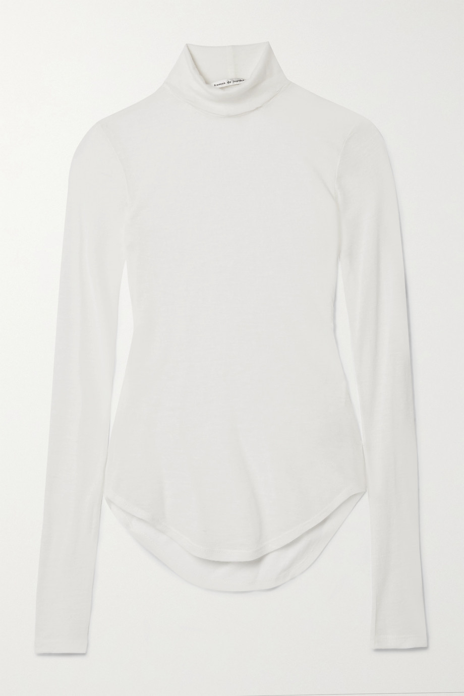 FRANCES DE LOURDES Lucie slub cashmere and silk-blend turtleneck sweater