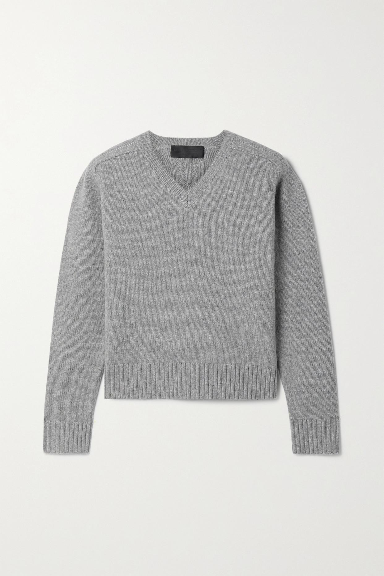 NILI LOTAN - Isadora 美利奴羊毛毛衣 - 灰色 - medium
