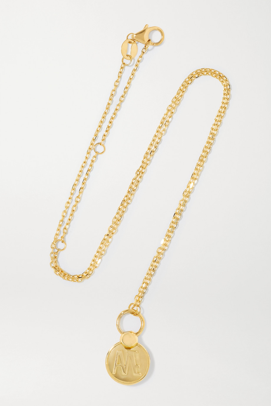 FOUNDRAE Amate 18-karat gold necklace