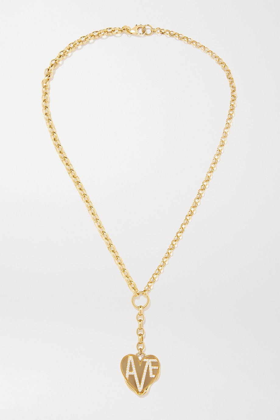 FOUNDRAE Amate 18-karat gold diamond necklace