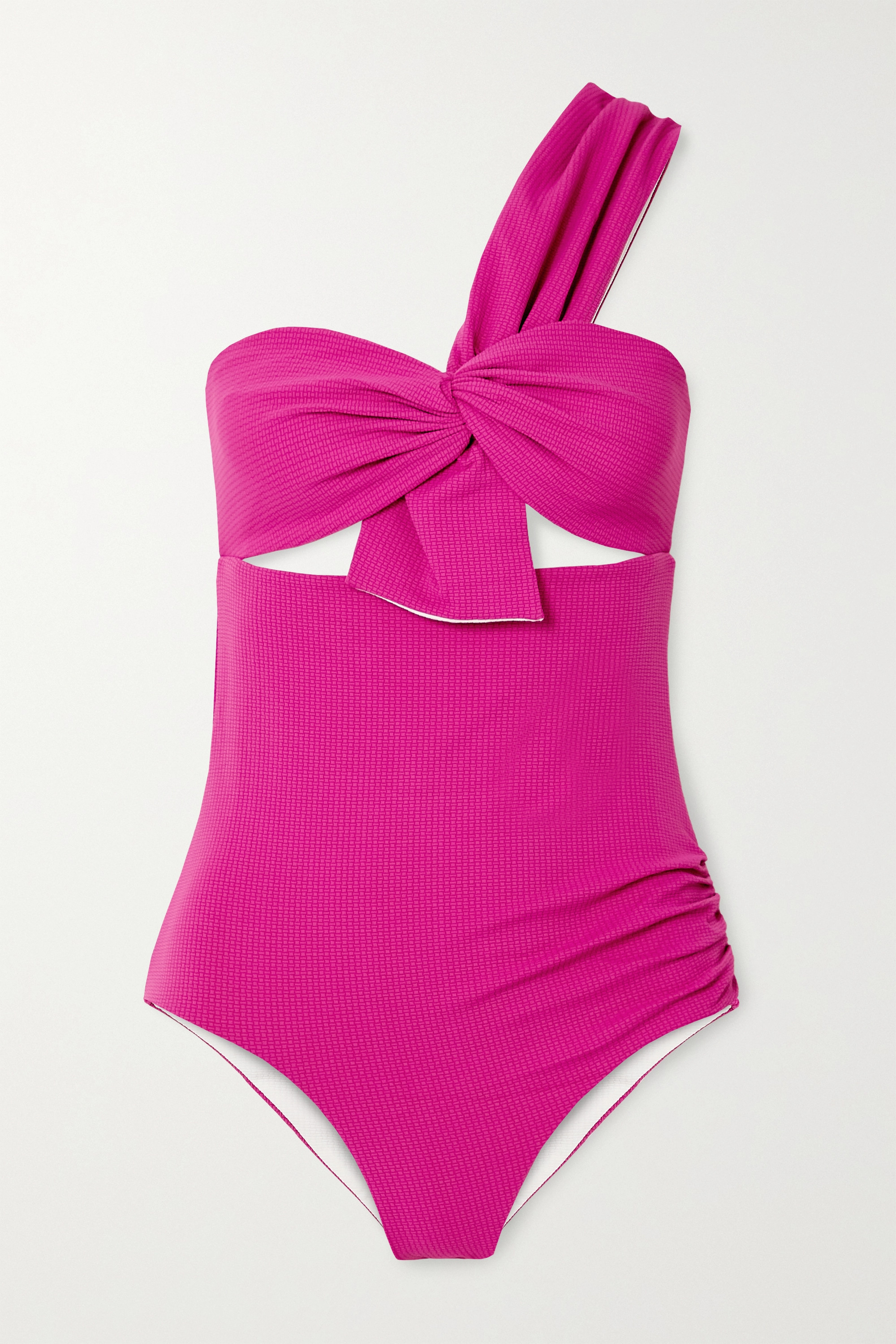 MARYSIA Venice one-shoulder cutout swimsuit
