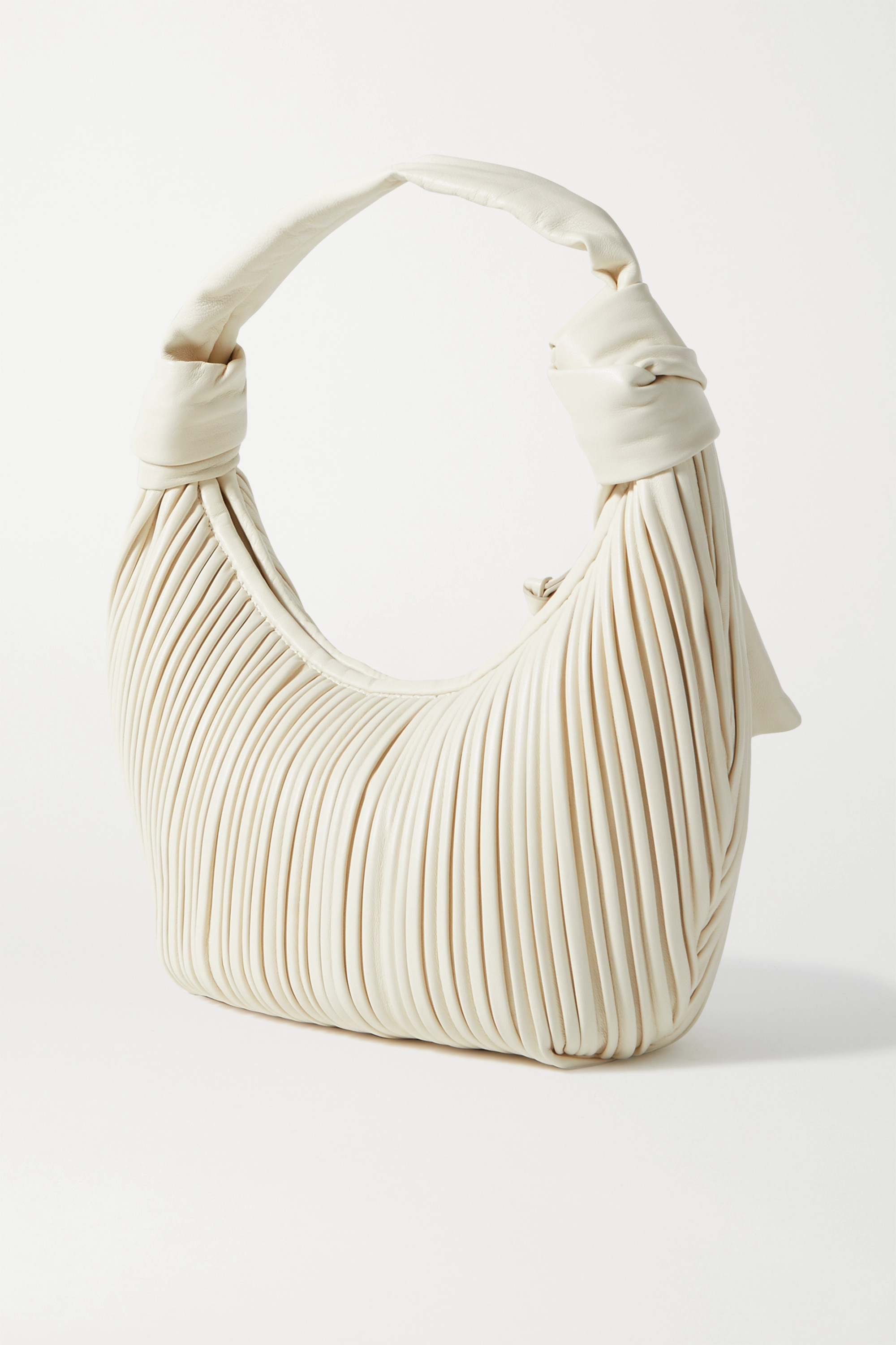 NEOUS Neptune knotted pleated leather shoulder bag