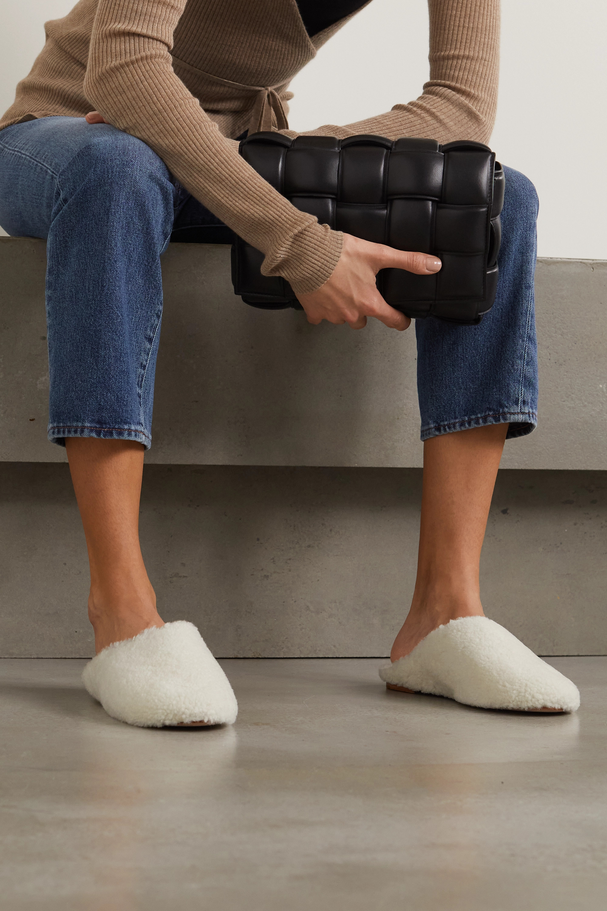 PORTE & PAIRE Shearling slippers