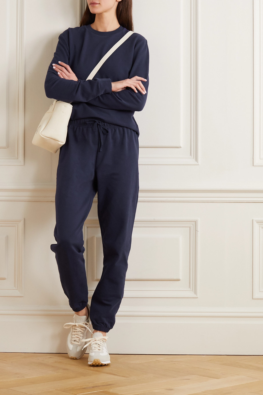NINETY PERCENT + NET SUSTAIN organic cotton-jersey sweatshirt and track pants set