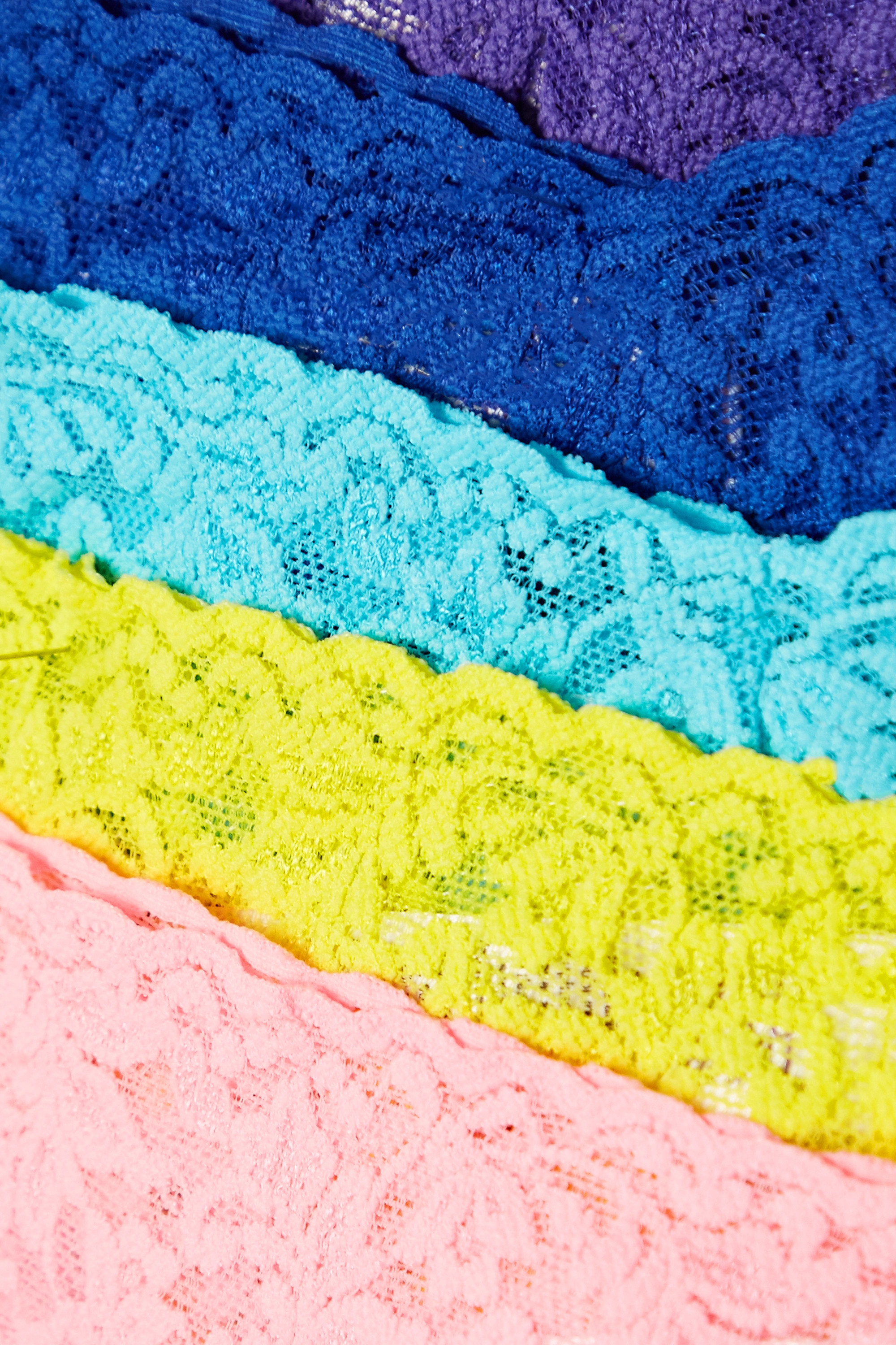 HANKY PANKY + NET SUSTAIN Signature set of five stretch-lace thongs