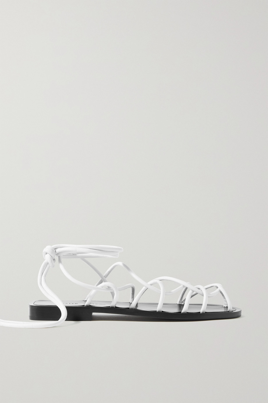 KHAITE Lyon leather sandals
