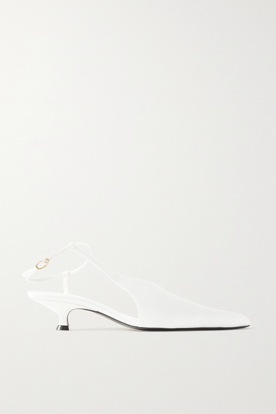 KHAITE Seville satin pumps