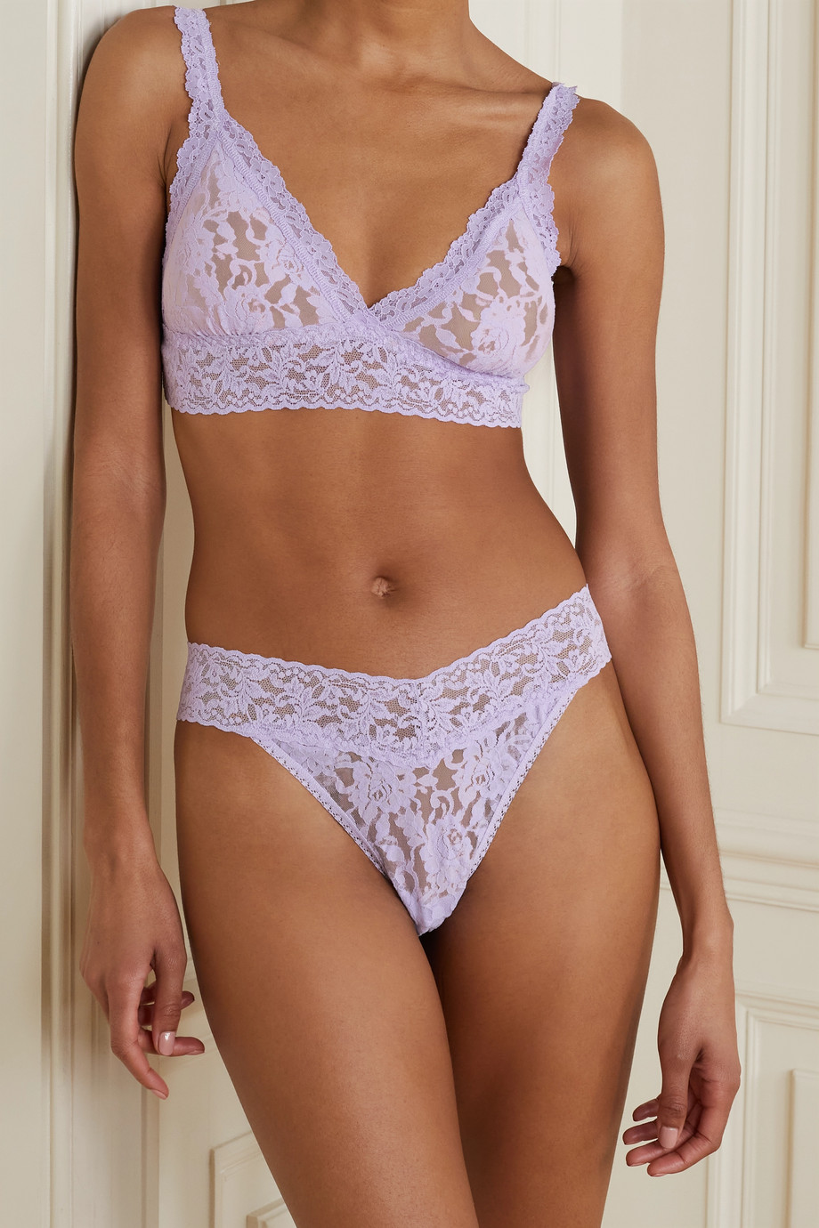 HANKY PANKY Signature set of two stretch-lace thongs
