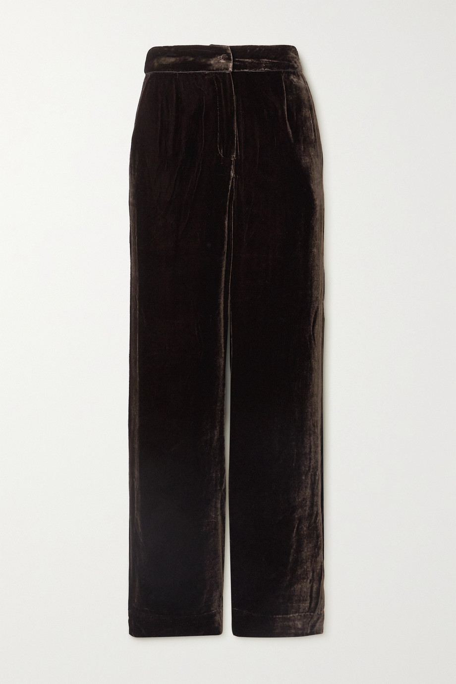 SLEEPING WITH JACQUES Crushed-velvet wide-leg pants