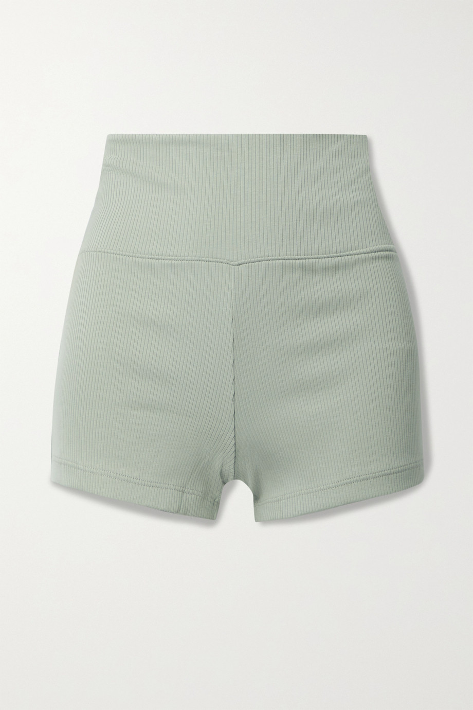 SKIN Ieva ribbed stretch-Pima cotton jersey shorts
