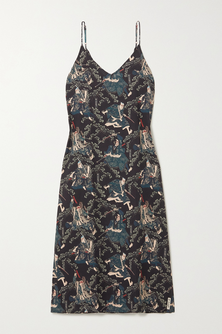 DESMOND & DEMPSEY + Rie Takeda printed organic cotton-voile nightdress