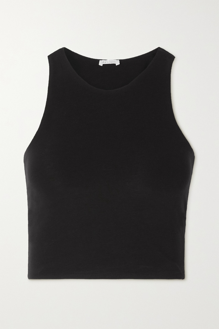 SKIN + NET SUSTAIN Calliope cropped stretch organic Pima cotton-jersey tank