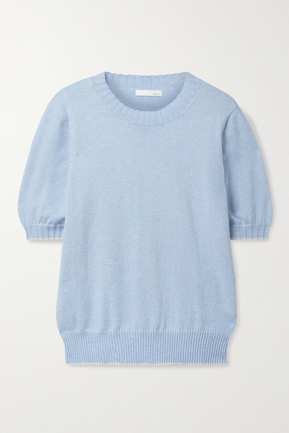 SKIN Mirren cotton and cashmere-blend sweater