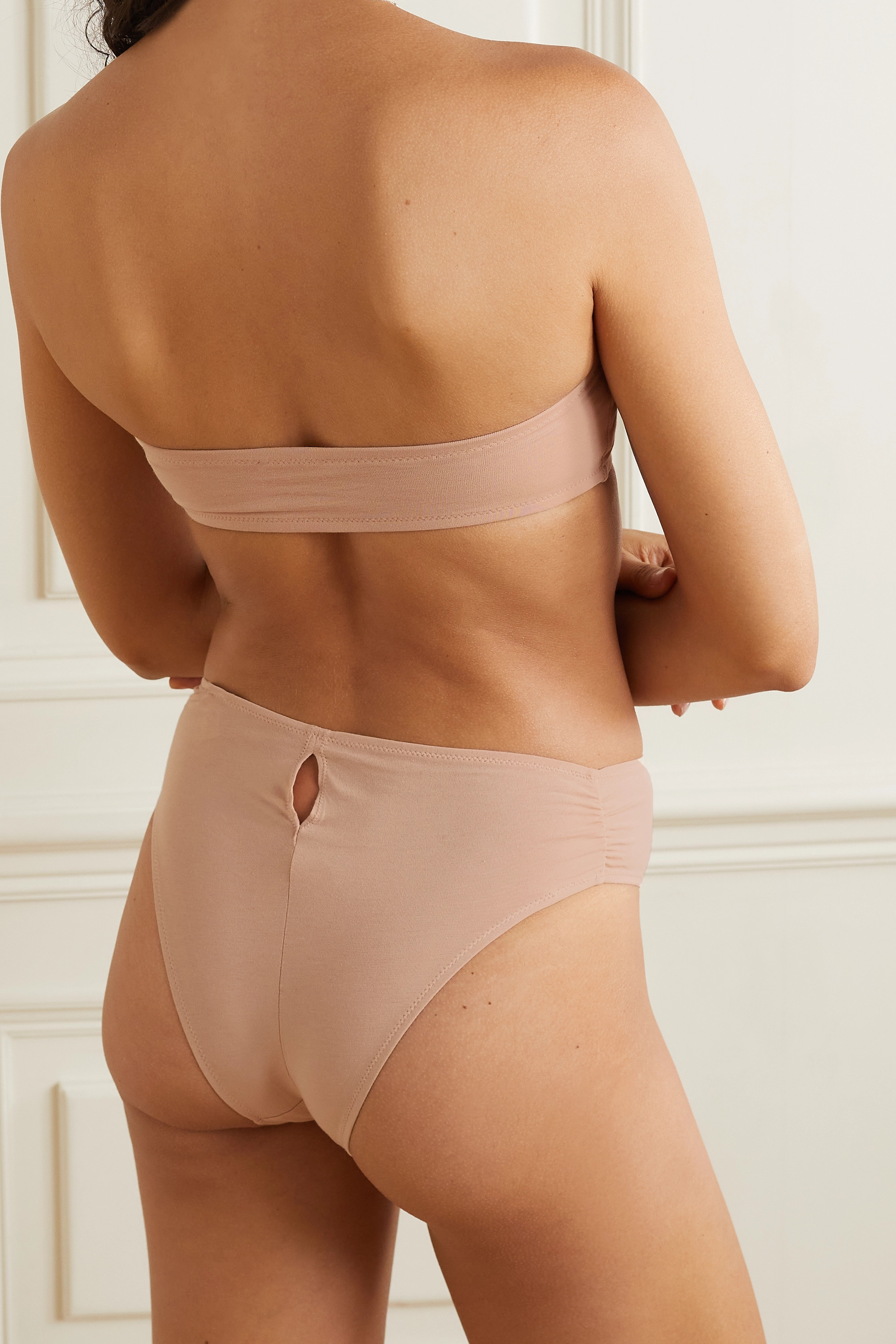 SKIN + NET SUSTAIN Grecia stretch organic Pima cotton-jersey briefs