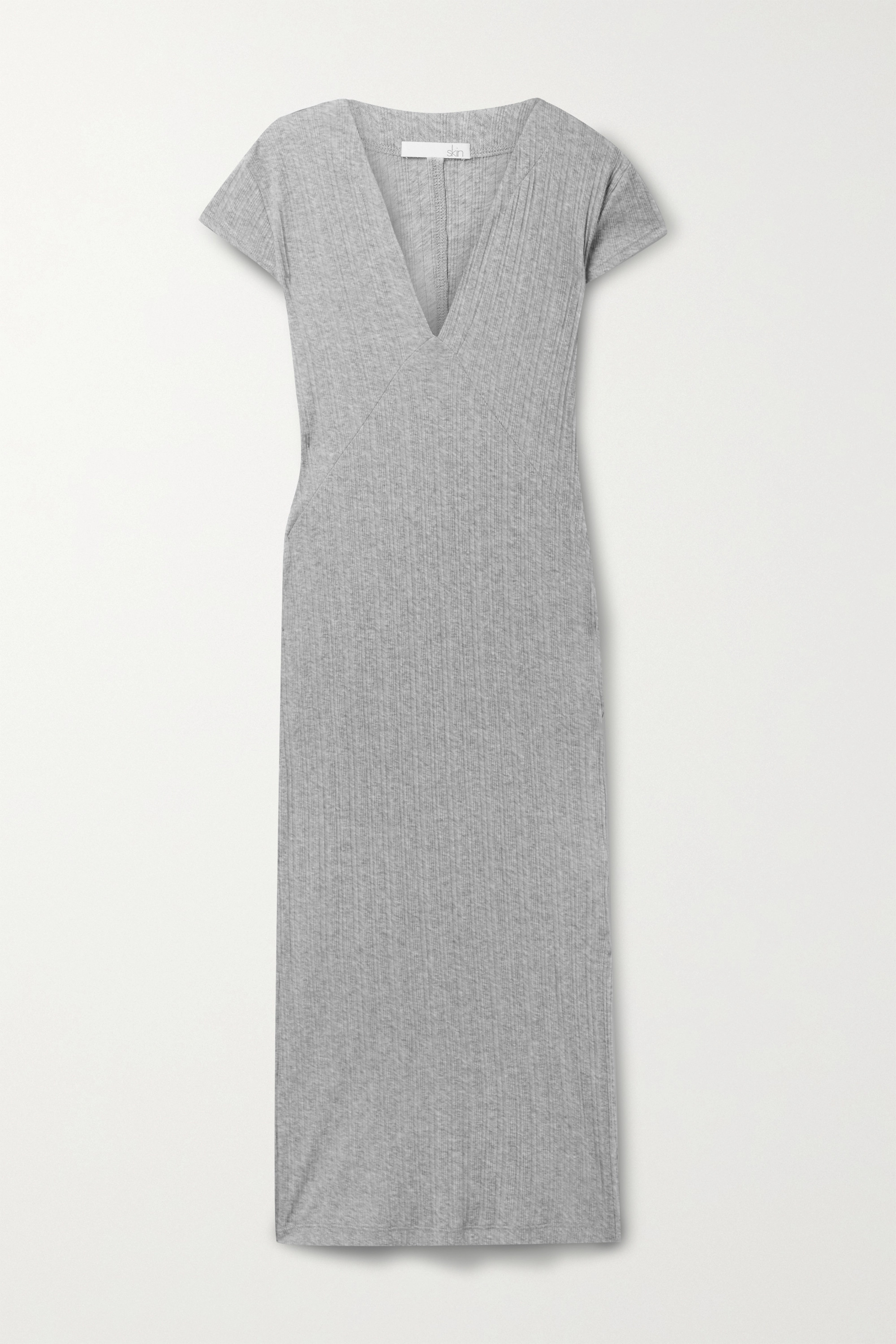 SKIN Rabia ribbed Pima cotton-jersey nightdress