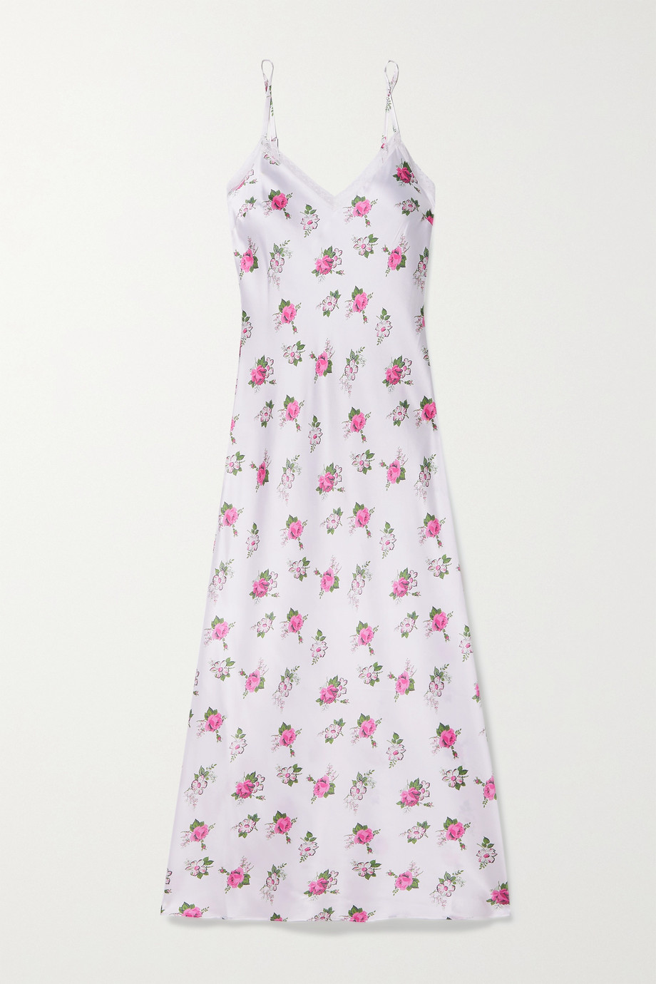 MORGAN LANE + LoveShackFancy Stella floral-print silk-blend satin chemise